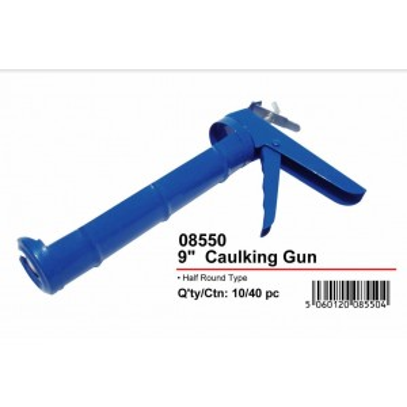 """JAK Half Round Type Silicon/Caulking Gun - 9"""" - Blue"""