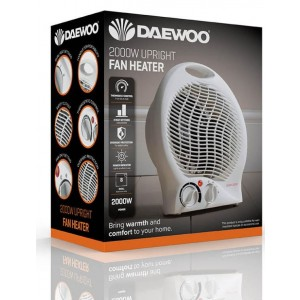 Electrical Portable Upright Fan Heater - 2000W