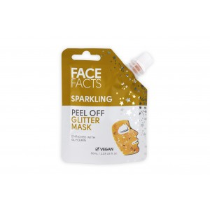 Face Facts Sparkling Peel Off Glitter Mask - Gold - 60ml