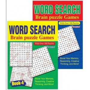 Word Search Brain Puzzle Games Book - 27 x 20cm