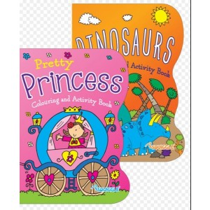 Colouring & Activity Book - Assorted Designs - Dinosaurs/Princess - 27 x 20cm