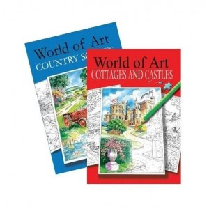 World of Art Colouring Books - Assorted Designs - 30 x 21cm