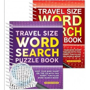 Travel Size Word Search Puzzle Book - 18.5 x 16cm - 0% VAT