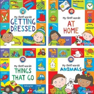 Early Learners My First Words Board Books - 15 x 15cm - Assorted Books - 0% VAT
