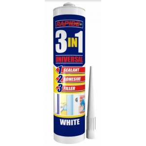 Rapide 3-in-1 Universal Sealant/Adhesive/Filler - White - 280ml - Exp: 02/23