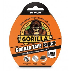 Gorilla Extra Strong Tape - Black - 11m x 48mm