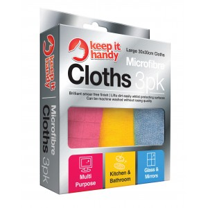 Microfibre Cleaning Cloths - Pack Of 3