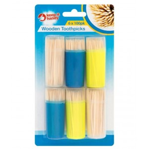 Keep It Handy Double Sided Point ToothPicks - Pack of 6 x 100