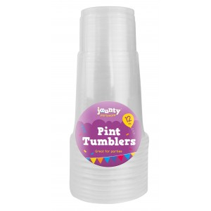 Jaunty Partyware Pint Tumblers - Pack of 12