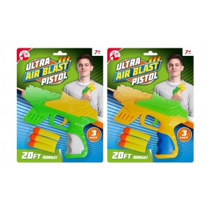 Ultra Air Blast Pistol with 3 Darts by Red Deer Toys - Assorted Colours