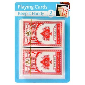 Keep It Handy Plastic Coated Playing Cards - Pack Of 2
