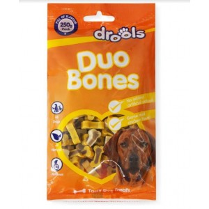 Drools Duo Bones Mix Tasty Dog Treats - Game and Chicken - 250 Grams