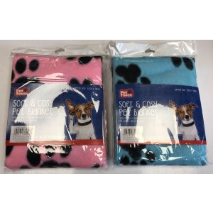 Soft Pet Blanket - Assorted Colours