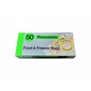 Set of 50 Resealable Food Bags