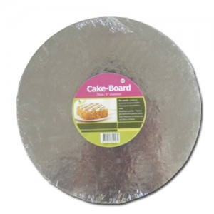 Round Silver Cake Board - 25cm - Pack of 2