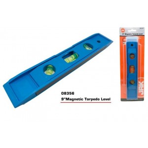 """JAK Magnetic Torpedo Level - Length 9"""" - Colours May Vary"""