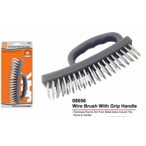 Wire Brush With Grip Handle - 17cm x 8xm