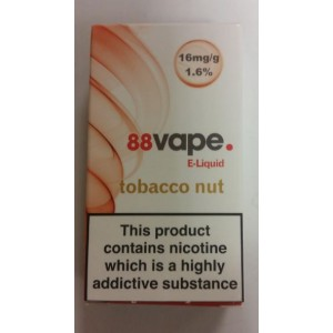 88 VAPE E LIQUID - TOBACCO NUT - 16mg - 10ml