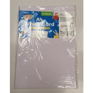 Creator Zone A4 White Cards - Pack of 24 Sheets