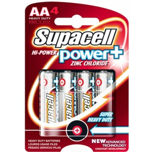 Supacell High Power Plus R6 1.5V Aa Heavy Duty Battery - Pack Of 4