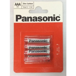 Panasonic Aaa/R03 Batteries - Pack Of 4