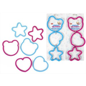 Children'S Egg Shapers - Pack Of 3 - 2 Assorted Colours