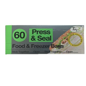 Food & Freezer Bags Press & Seal - Pack Of 60