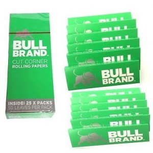 Bull Brand Cut Corner Cigarette Rolling Papers - Pack Of 25