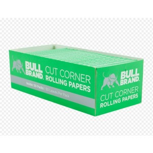 Bull Brand Cut Corner Cigarette Rolling Papers - Pack Of 50