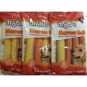 Drools Marrow Rolls Beef And Chicken Flavour - No Added Sugars And Fats - Pack Of 4