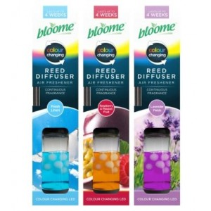 Bloome Colour Changing Reed Diffuser Air Freshener - Assorted Fragrances