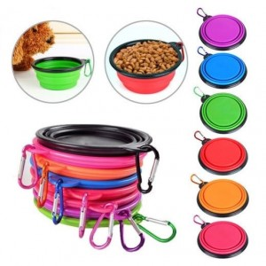 Cooper & Pals Collapsible Portable Bowl - Colours May Vary - 13 x 5.5cm