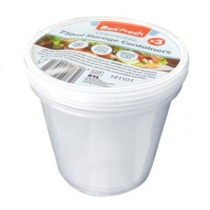 Box Fresh Disposable Food Storage Containers - 750ml - Pack of 3