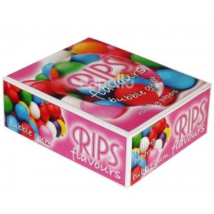 Rips Flavoured Cigarette Paper Rolls - Bubble Gum - Pack Of 24 Rolls