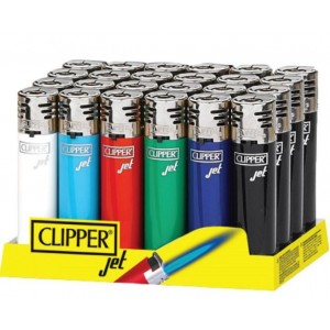 Clipper Refillable Jet Flame - Wind Resistant Lighter - Assorted Colours - Pack Of 24