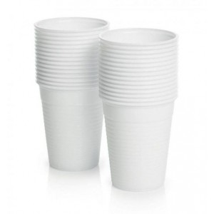 Heavy Duty Disposable White Cups - White - 180ml - 6.5oz - Pack of 100
