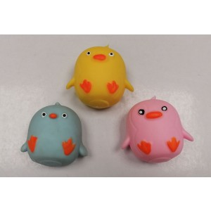 Cute Bird Sensory Squishy Toy - Assorted Shapes and Colours - 7cm