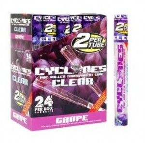 Cyclone Pre Rolled Clear Cone - Grape - Pack Of 24