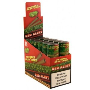 Cyclones Hemp Cones - Red Alert - 2 Per Tube - Pack of 24