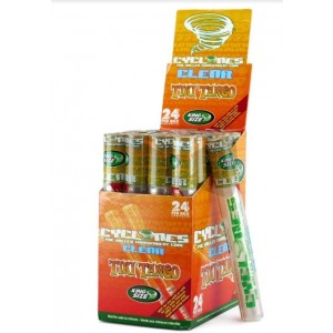 Cyclone Pre Rolled Clear Cone - Tiki Tango - King Size - Pack Of 24