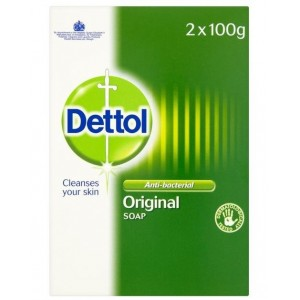 Dettol Original Anti-Bacterial Bar Of Soap - Dermatologically Tested - 2 x 100G