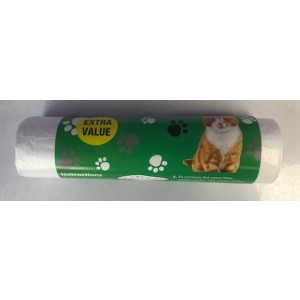 Extra Value Cat Litter Tray Liners - Roll of 30