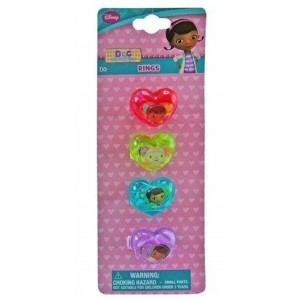 Disney Doc Mcstuffins/Dora Toy Rings - Pack Of 4 - Designs May Vary