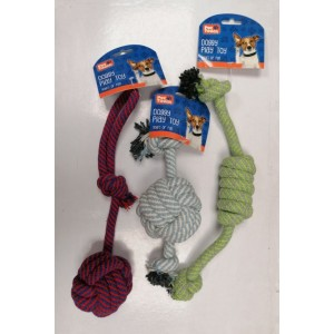 Pet Touch Doggy Play Chunky Rope Dog Toy - 41 x 6cm - Assorted Colours