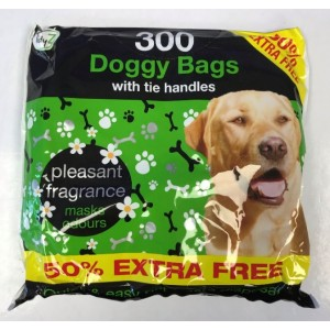 TidyZ Fragranced Doggy Bags with Tie Handles - 29 x 26cm - Pack of 300