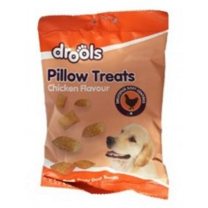 Drools Tasty Pillow Treats For Pet Dogs - Chicken Flavour - 120G