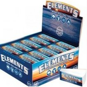 Elements Wide Perforated Cigarette Rolling Tips - Box Of 50