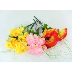 Artificial Flowers - Bunch Of Flowers - Designs, Shapes, Sizes And Colours Vary