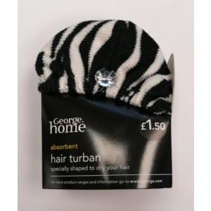 George Home Absorbent Hair Turban - Price Marked £1.50