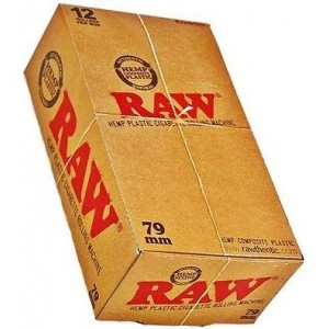 Raw Hemp Plastic Cigarette Rolling Machine - 79Mm - Box Of 12